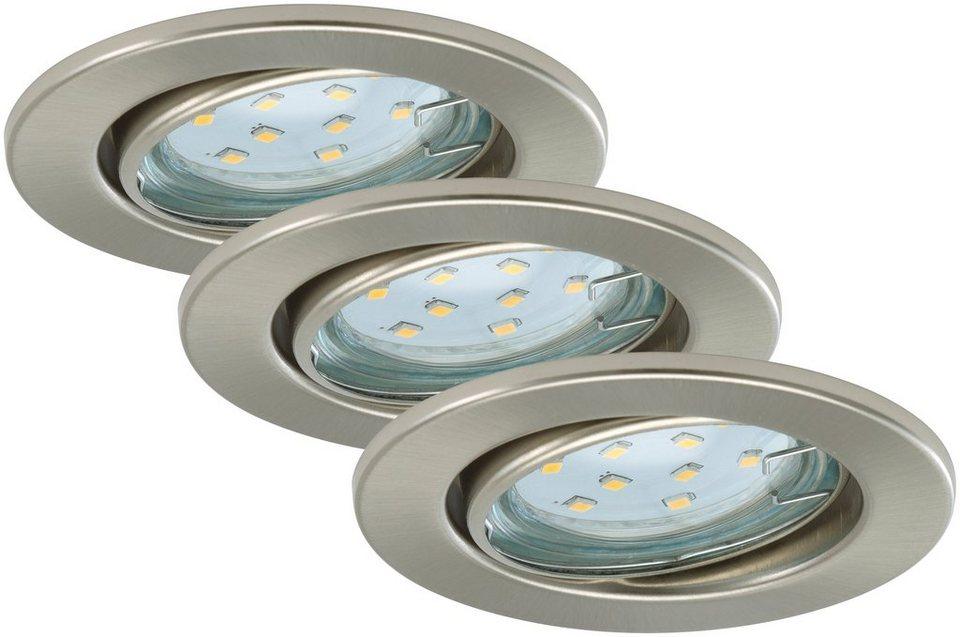 LED Einbauleuchten »Fit«, 3W, matt-nickel in grau