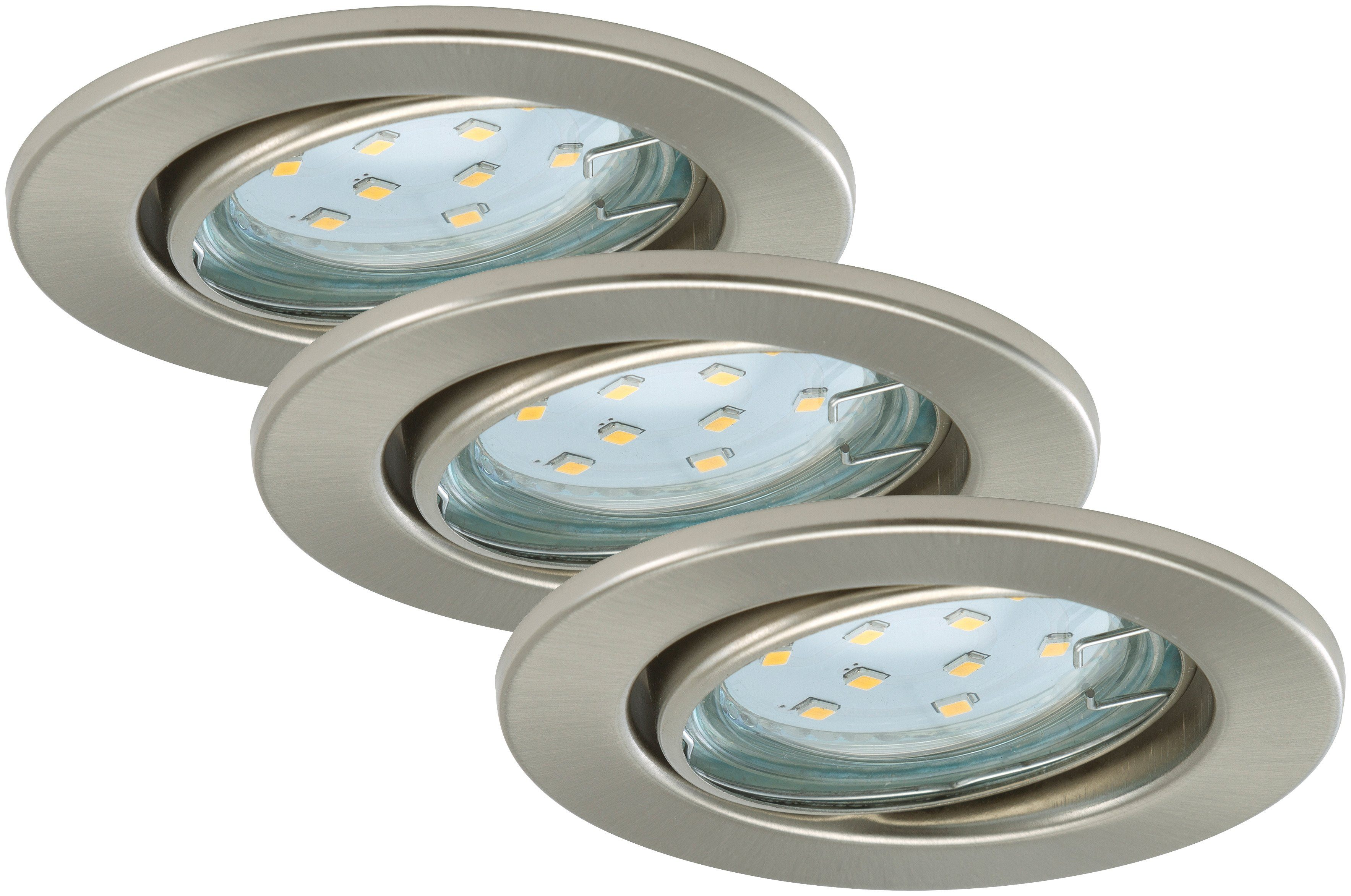 Briloner LED Einbauleuchten »Fit«, 3W, matt-nickel