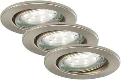 Briloner LED Einbauleuchten »Fit«, 3W, matt-nickel