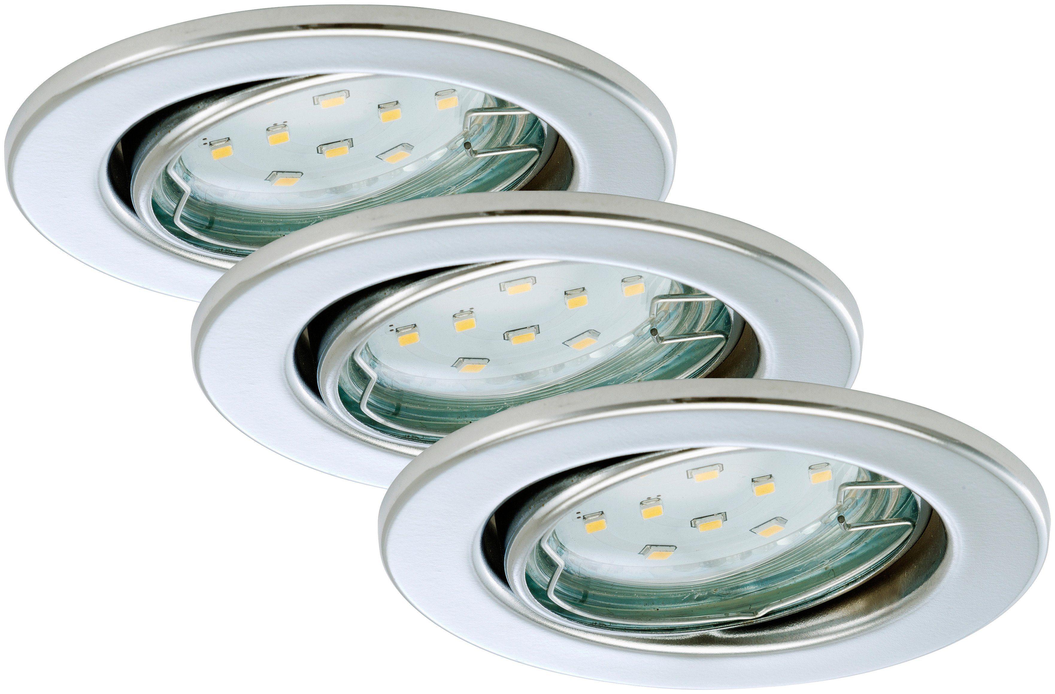 Briloner LED Einbauleuchten »Fit«, 3W, chrom