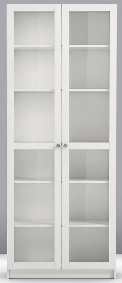 Home affaire Glastüren-Set »Anette«, Breite 80 cm.   Wohnzimmer > Vitrinen > Glasvitrinen   Weiß   Holzwerkstoff   Home affaire