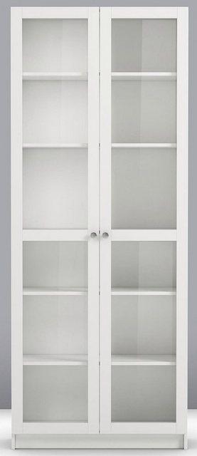 Home affaire Glastüren-Set »Anette«, Breite 80 cm. | Wohnzimmer > Vitrinen > Glasvitrinen | Weiß | home affaire