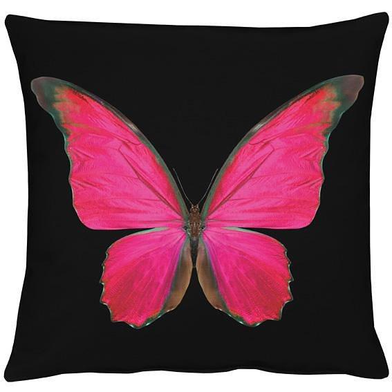 Kissenhüllen, Apelt, »Papillon« (1 Stück) in schwarz/pink