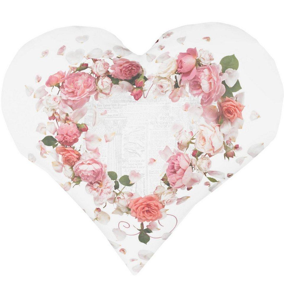 Herzkissen, Apelt, »5904« in weiß/rose