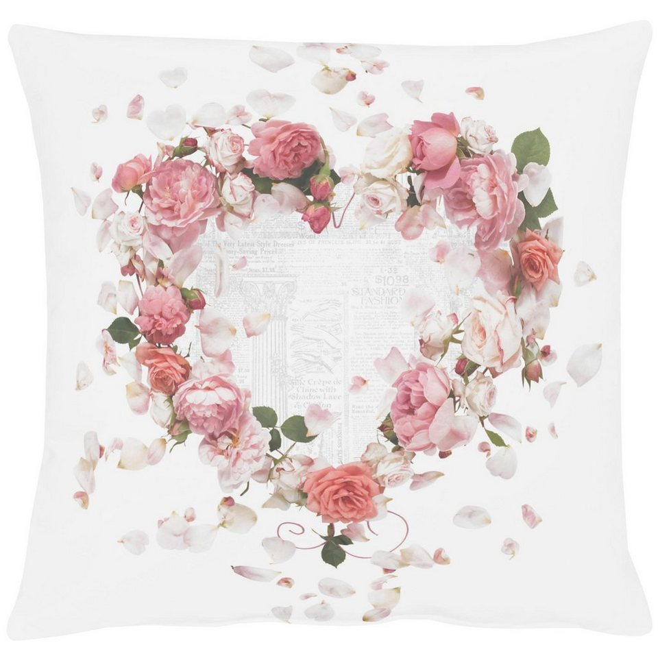 Kissenhüllen, Apelt, »5904« (1 Stück) in weiß/rose