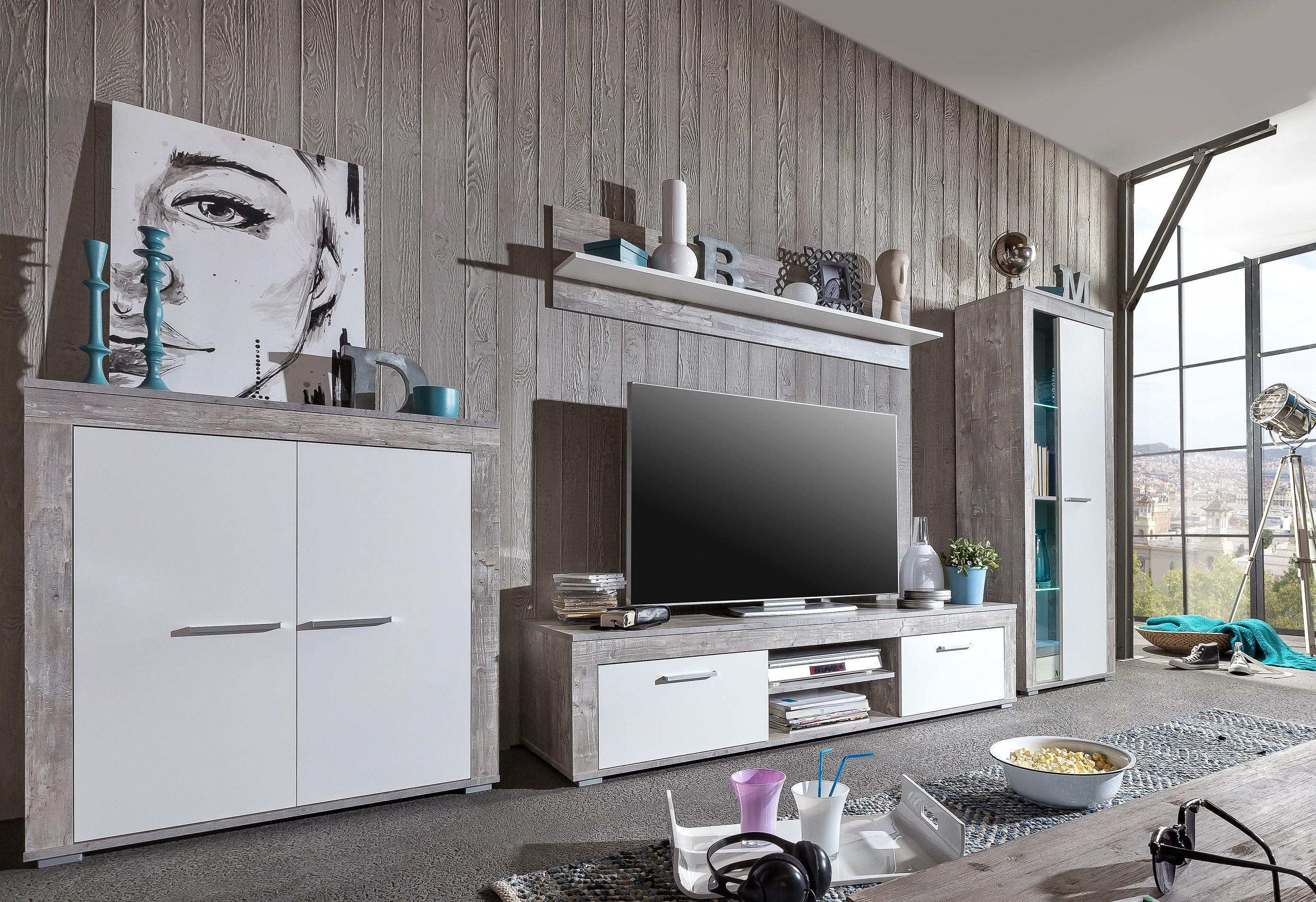Wohnwand Weie Holz ~ Schönes wohnwand holz home dekorationsideen und interior design