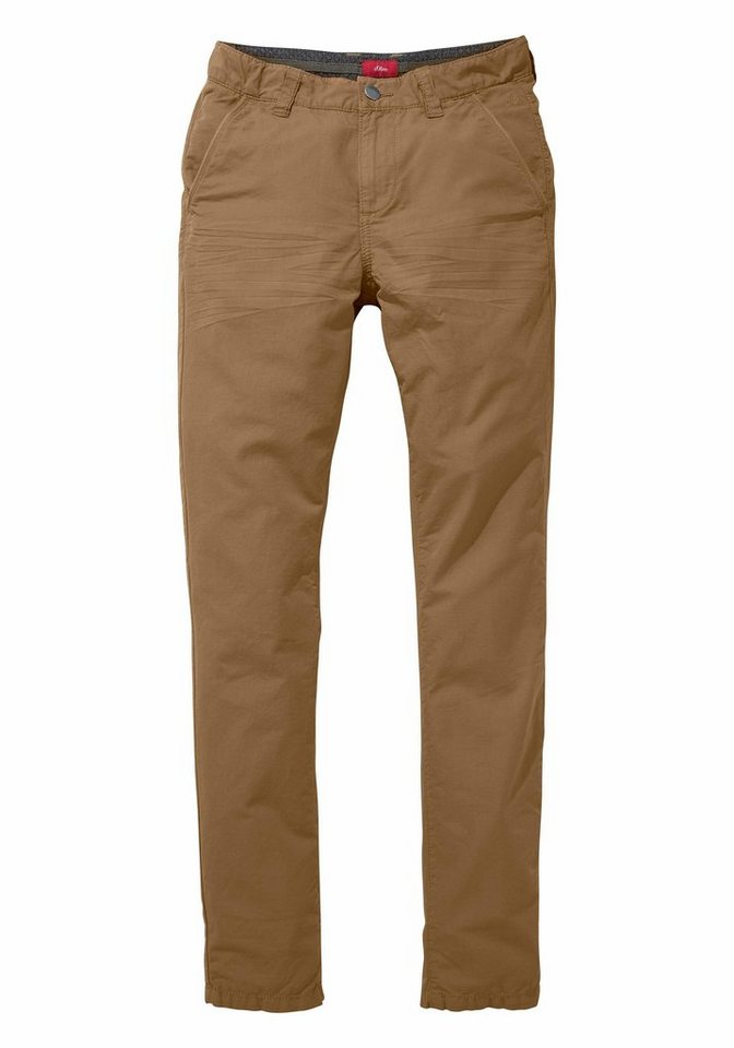 s.Oliver RED LABEL Junior Chinohose Regular-fit mit schmalem Bein in hellbraun