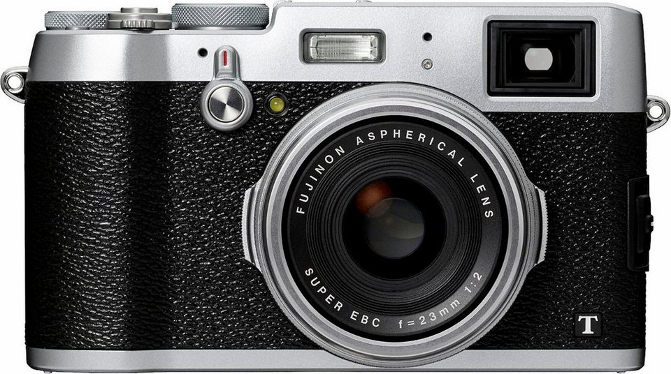 FUJIFILM FINEPIX X100T Kompakt Kamera, 16,3 Megapixel, 7,1 cm (2,8 Zoll) Display in silberfarben