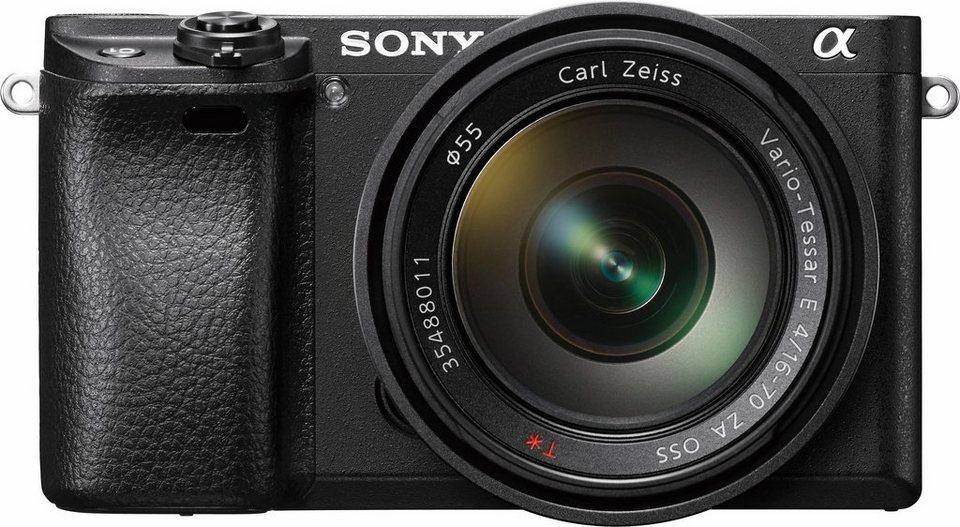 Sony Alpha ILCE-6300Z Objektivkamera, Sony SEL-1670Z Zoom, 24,2 Megapixel, 7,5 cm (3 Zoll) Display in schwarz