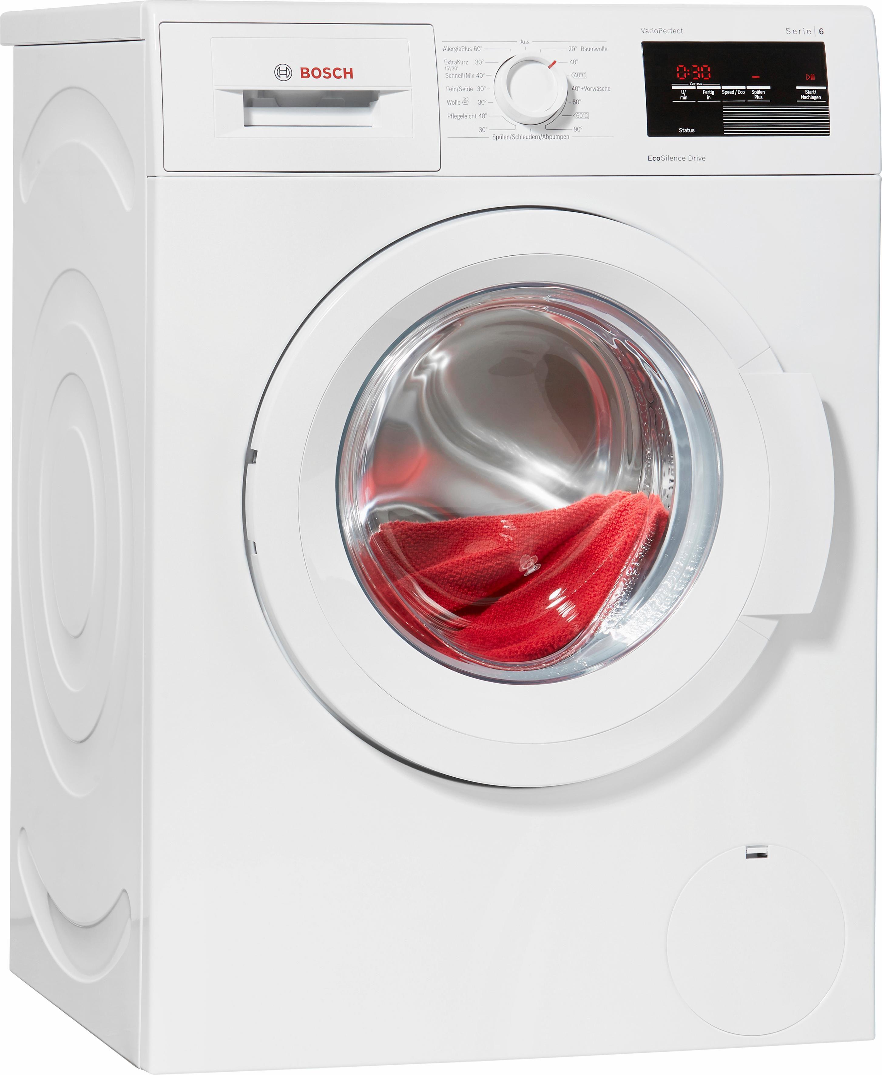 BOSCH Waschmaschine Serie 6 WAT28320, A+++, 7 kg, 1400 U/Min