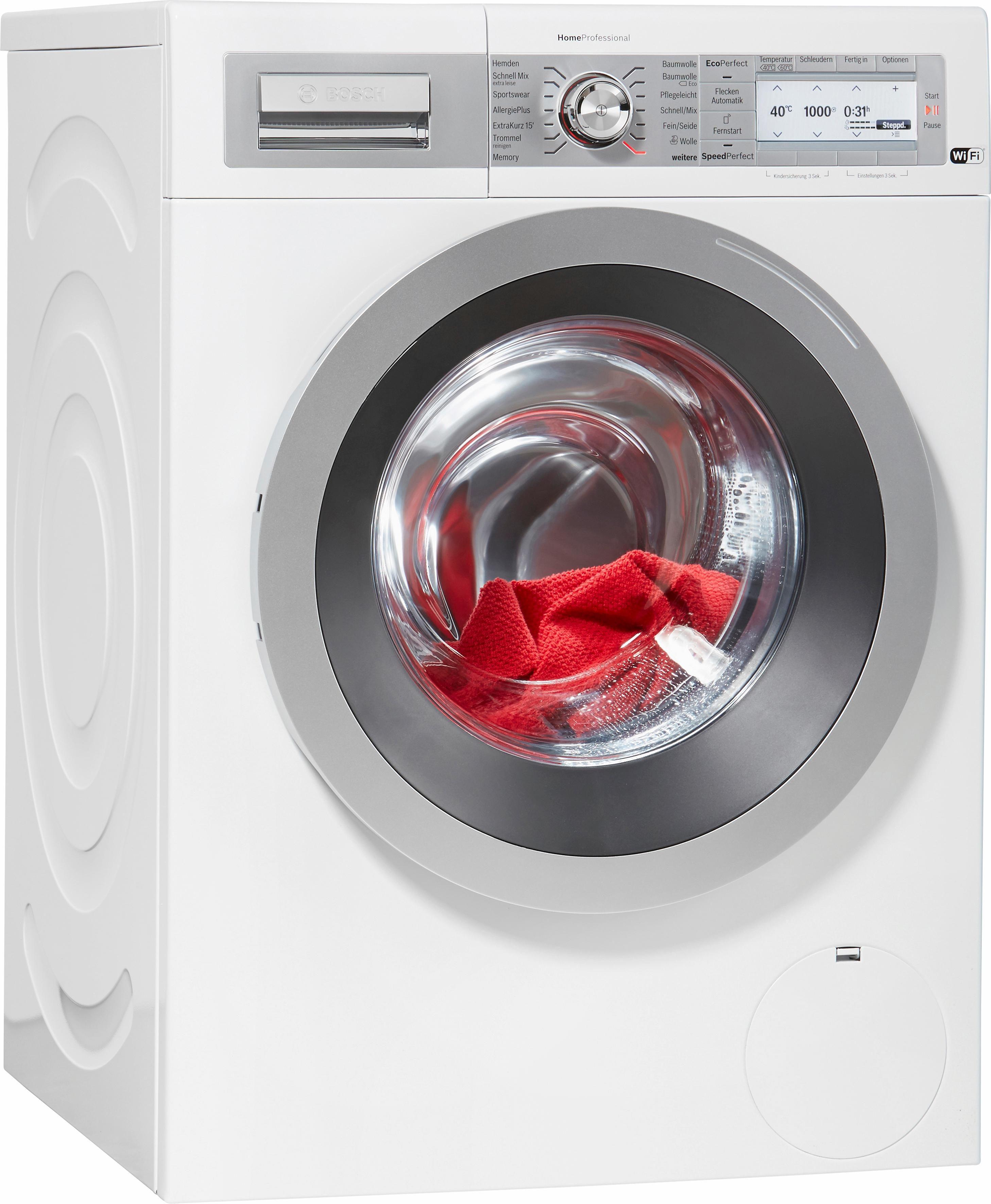 BOSCH Waschmaschine HomeProfessional i-Dos WAYH8740, A+++, 8 kg, 1400 U/Min