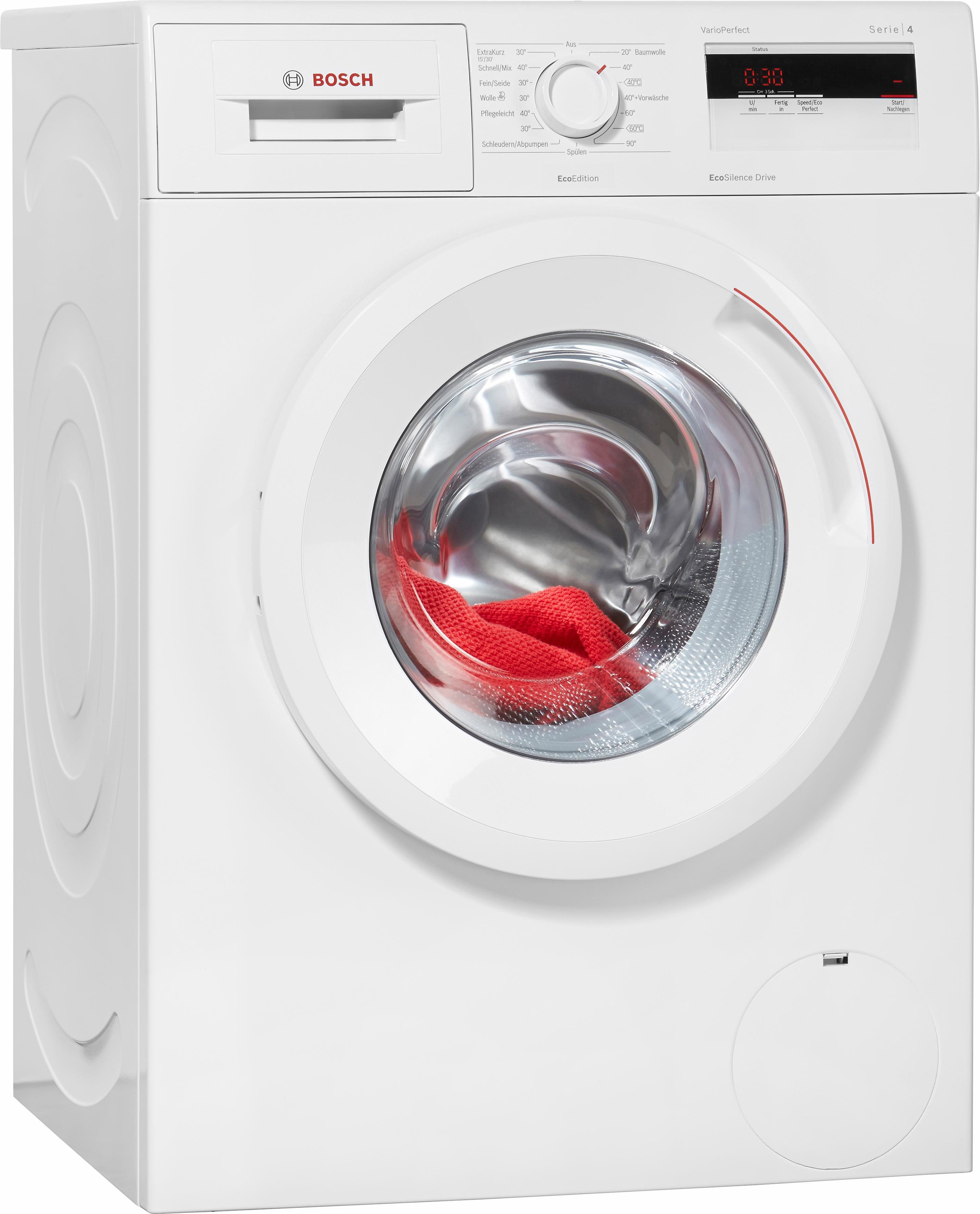BOSCH Waschmaschine Serie 4 WAN280ECO, A+++, 6 kg, 1400 U/Min