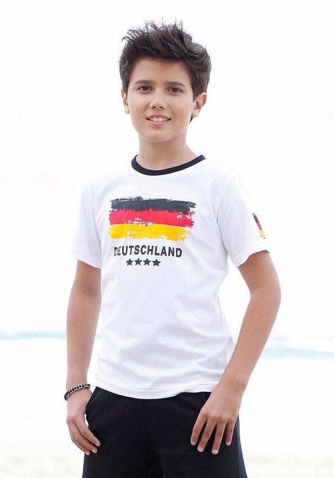 """KIDSWORLD T-Shirt Fanshirt """"Deutschland"""" in weiß"""