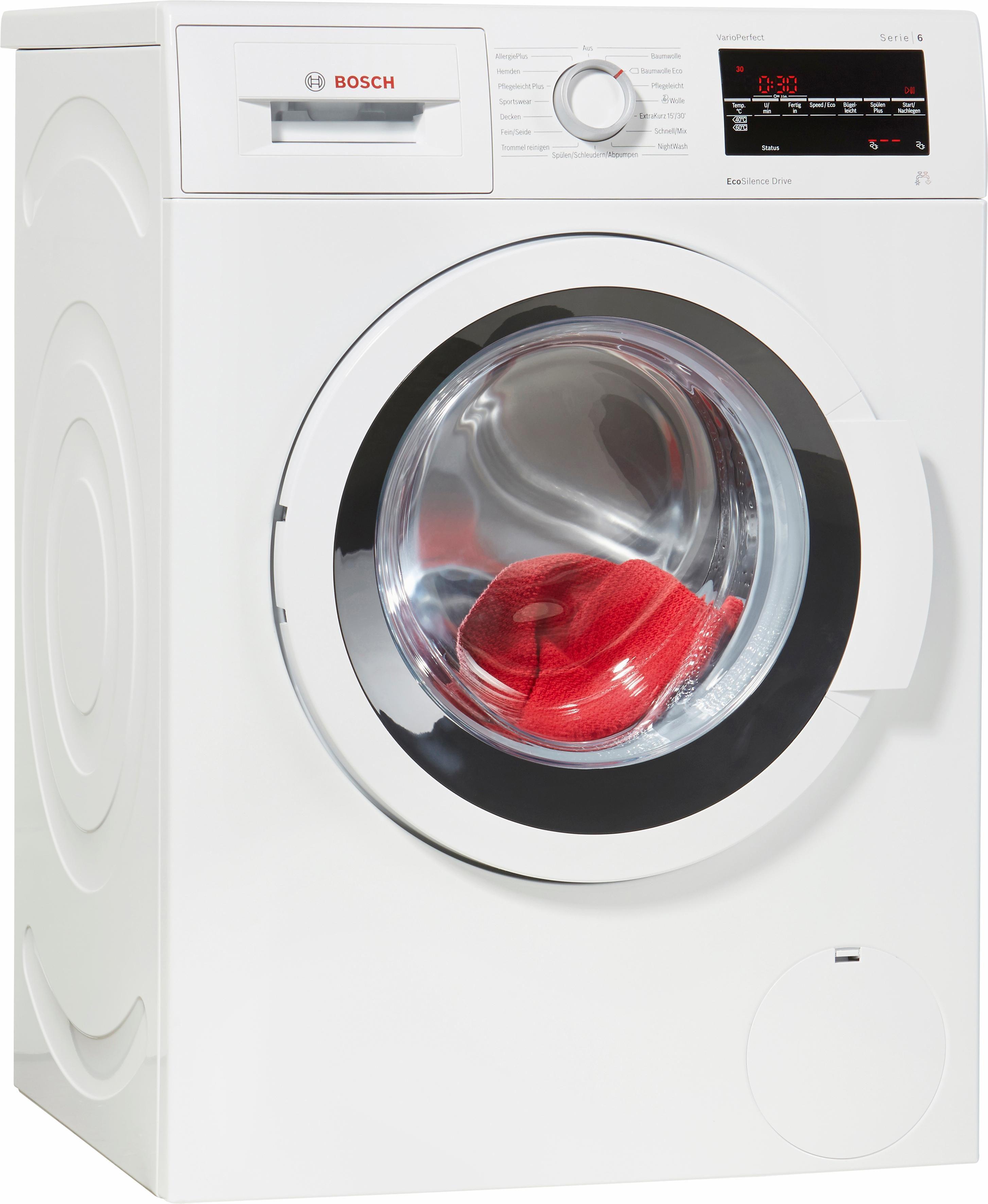 BOSCH Waschmaschine Serie 6 WAT28410, A+++, 7 kg, 1400 U/Min