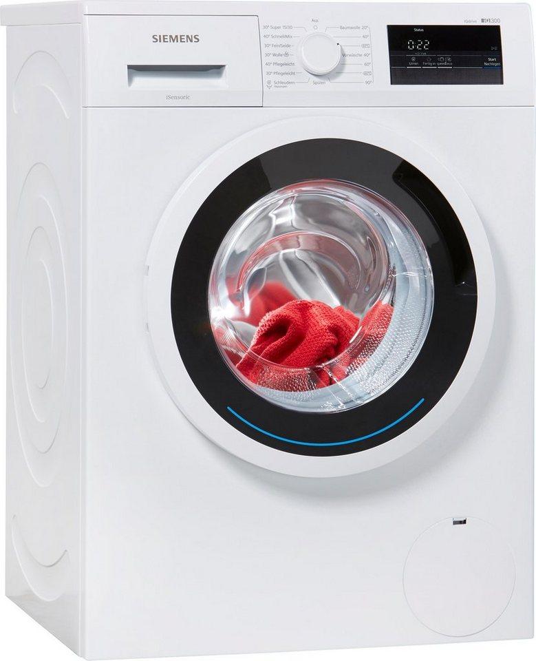 SIEMENS Waschmaschine WM14N0ECO, A+++, 6 kg, 1400 U/Min in weiß
