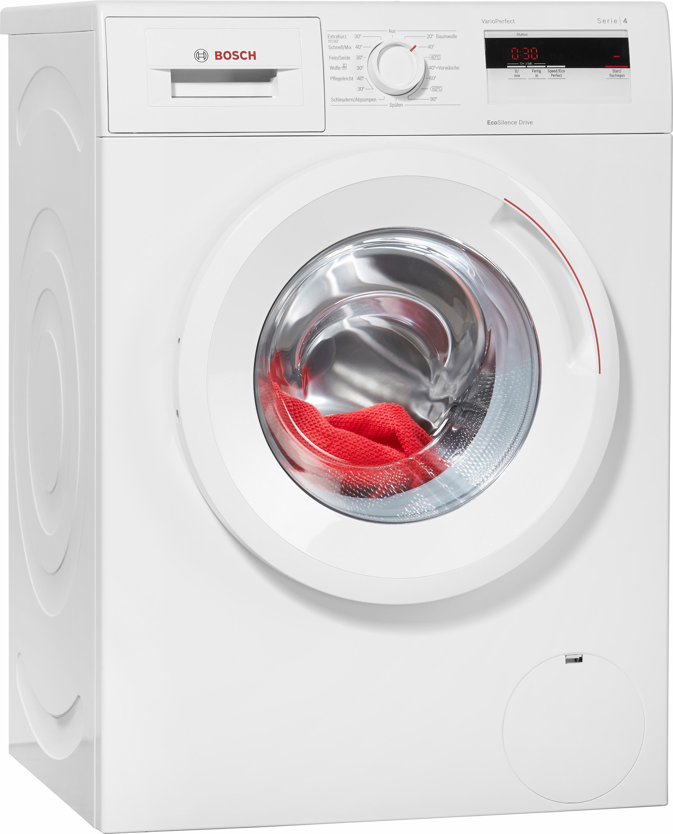 BOSCH Waschmaschine Serie 4 WAN28060, A+++, 6 kg, 1400 U/Min