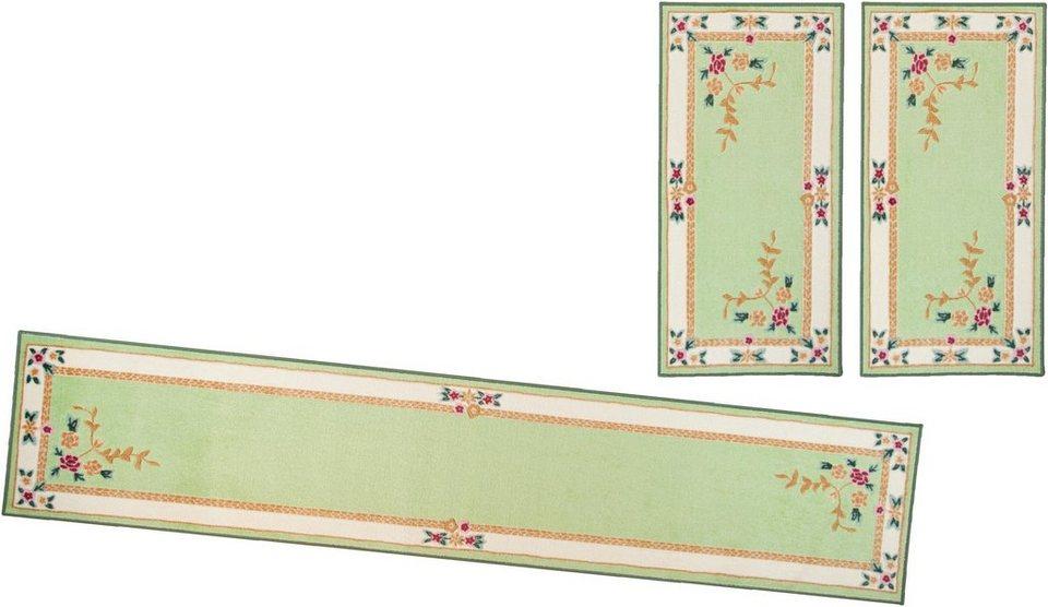 Bettumrandung (3-tlg.), Theko, »Versailles« in grün