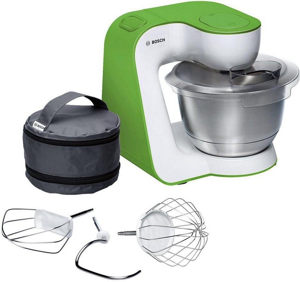 Bosch Universal-Küchenmaschine »StartLine MUM54G00«, 900 Watt, weiß / vivid green in grün