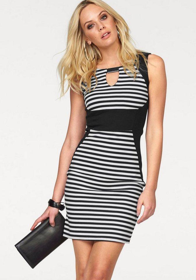 Melrose Jerseykleid mit Shape-Optik in schwarz-weiß