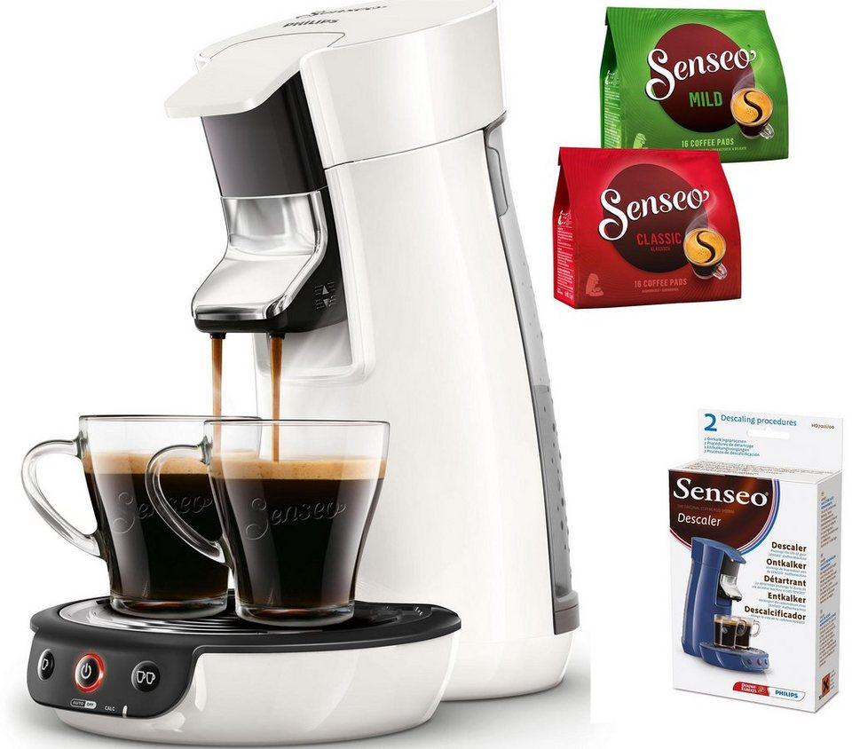 SENSEO® Kaffeepadmaschine Viva Café HD7829/00, inkl Gratis-Zugaben im Wert von 14 € in Weiß