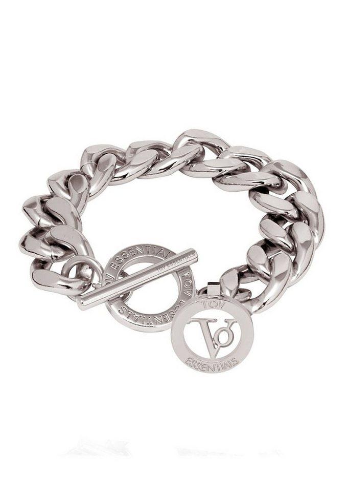 TOV Armband, »Small Flat chain Bracelet, 1701.003« in silberfarben