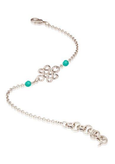TOV Armband mit Swarovski-Kristallen, »Infinity Knot Multi bracelet, 1343.003.258« in silberfarben/mintgrün