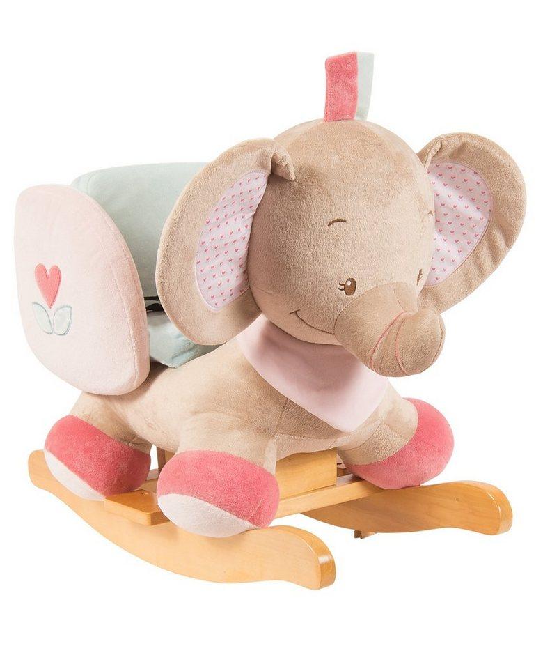 NATTOU Schaukeltier, rosa, »Rose der Elefant«