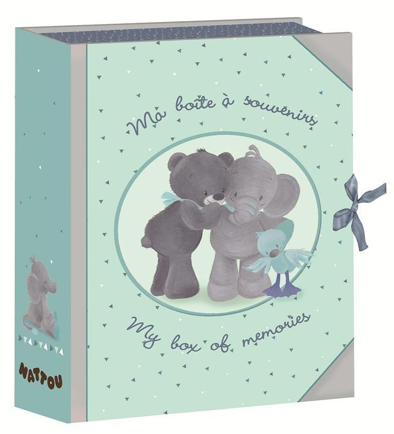NATTOU Aufbewahrungsbox für Kinder, blau, »Schatzdose«