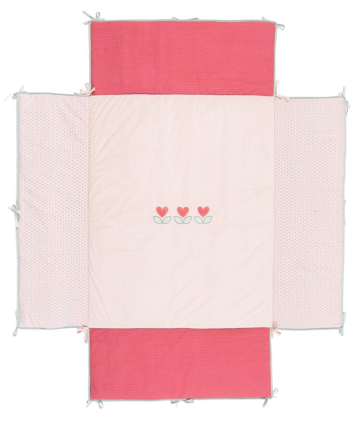 NATTOU Laufgittereinlage, 95x75 cm rosa