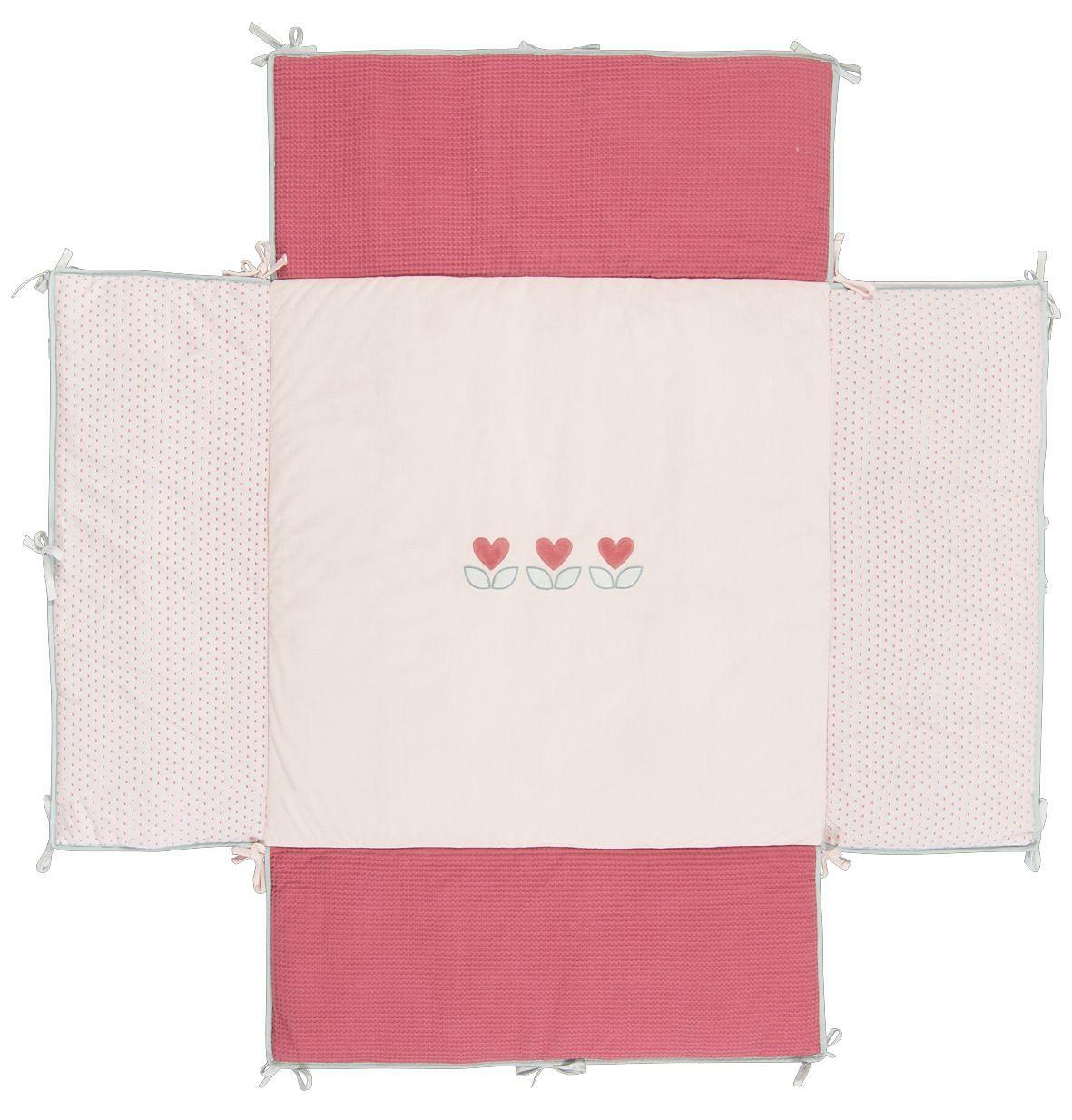 NATTOU Laufgittereinlage, 100x100 cm rosa