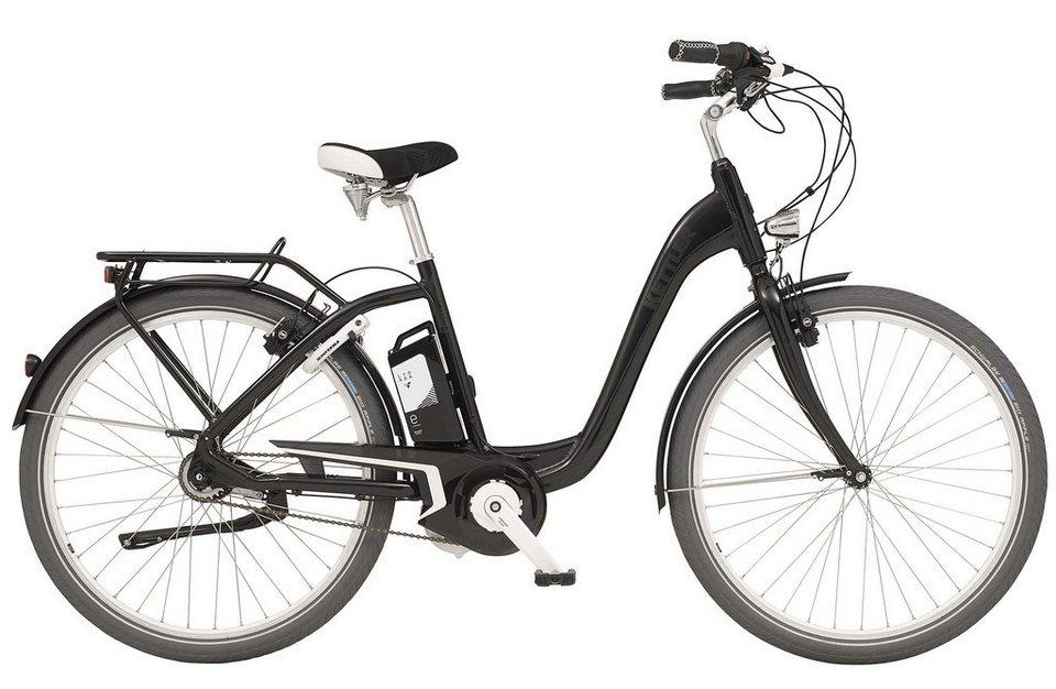 Kettler E-City-Bike, Damen, 28 Zoll, 8 Gang Shimano, Freilauf, inkl. Tasche, »Layana E« in black glossy