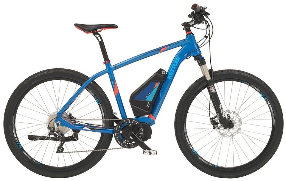 Kettler E-Trekking Bike, Herren, 27,5 Zoll, 10 Gang Shimano, Scheibenbremsen, »Boston E X« in electric blue, matt