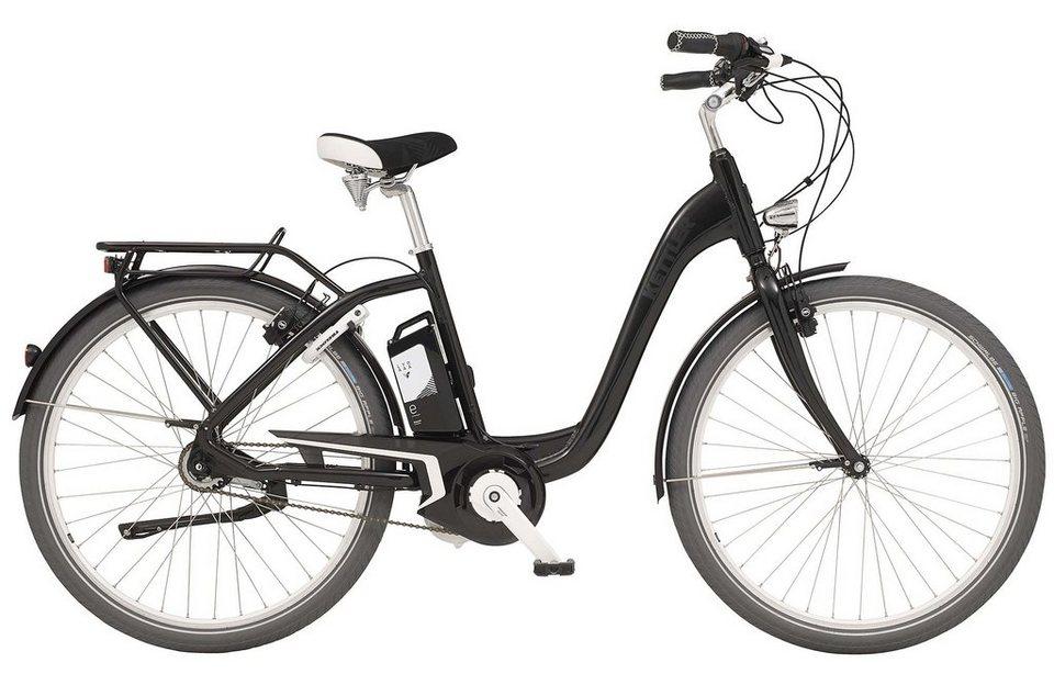 Kettler E-City-Bike, Damen, 28 Zoll, 8 Gang Shimano, Rücktritt, inkl. Tasche, »Layana E« in black, glossy