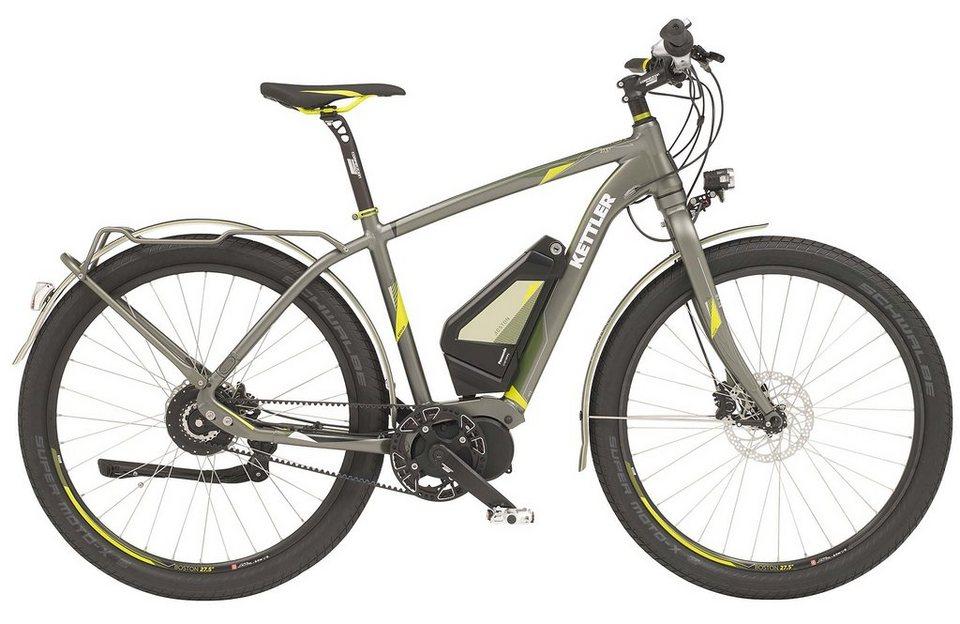 Kettler E-Trekkingbike Herren, 27,5 Zoll, NuVinci N380, Scheibenbremsen, »Boston E Beltdrive« in venom green, matt