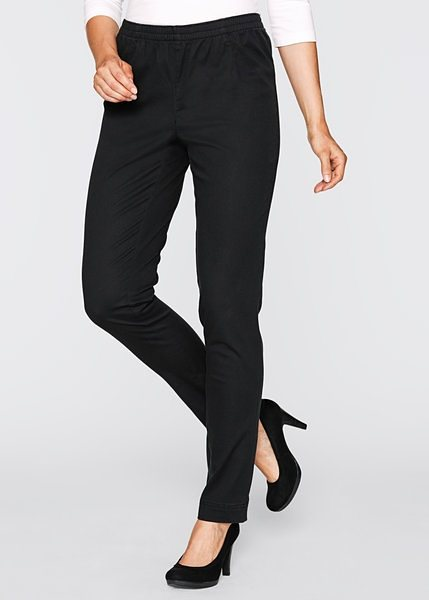 Stretch-Leggings »schmal« in schwarz