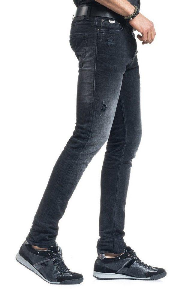 salsa jeans Jean »Slim Carrot/ Slender« in Black