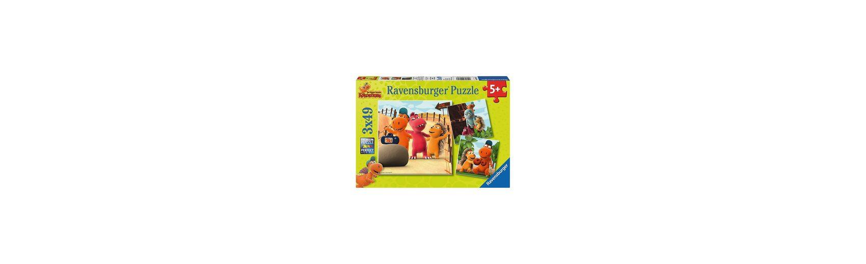 Ravensburger Puzzleset Der kleine Drache Kokosnuss 3 x 49 Teile