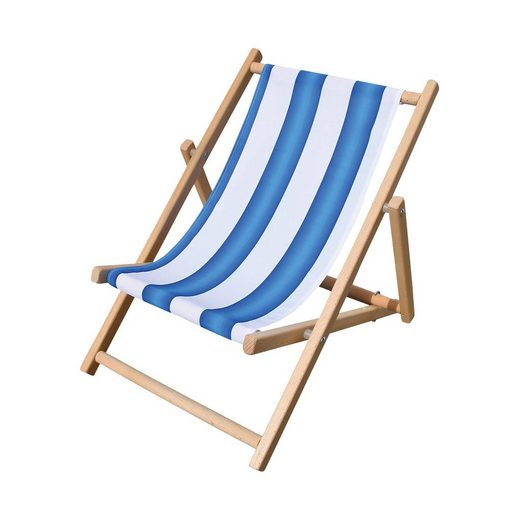 Beluga Kinderliegestuhl blau/weiß gestreift