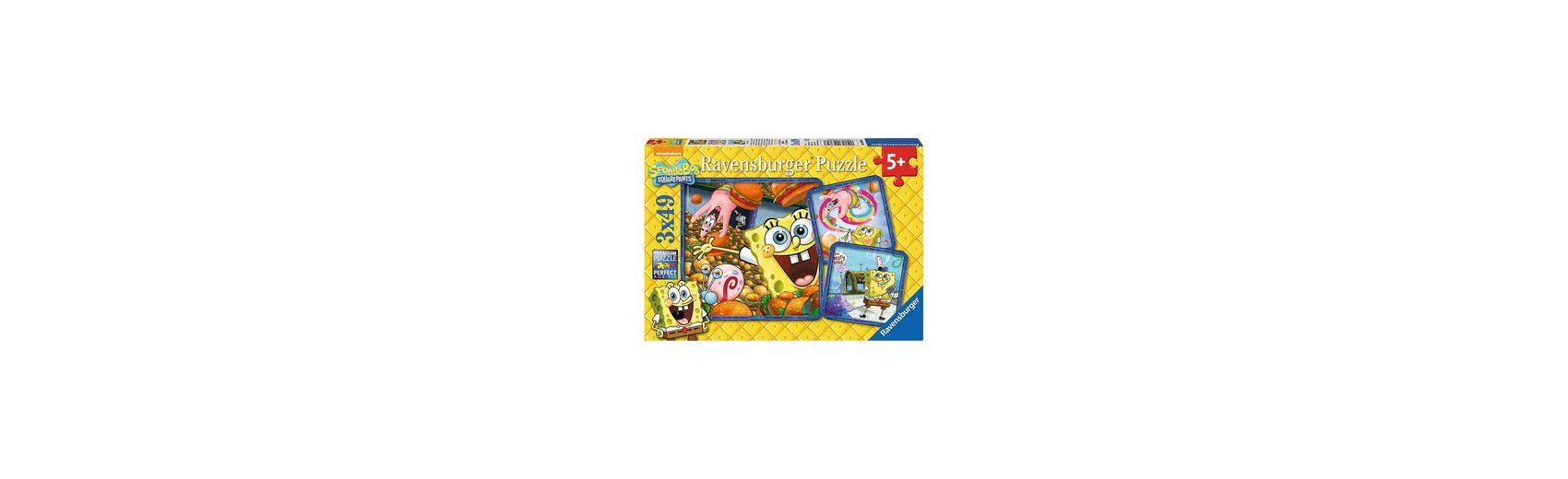 Ravensburger Puzzleset Spaß mit Spongebob 3 x 49 Teile