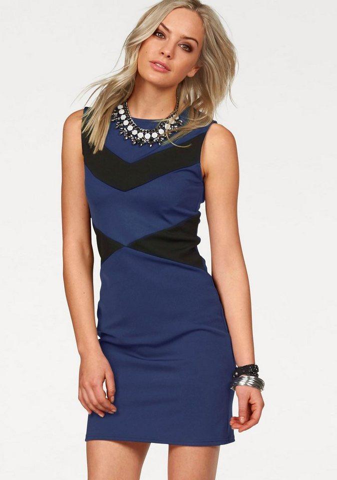 Melrose Jerseykleid in Shape-Optik in royalblau-schwarz