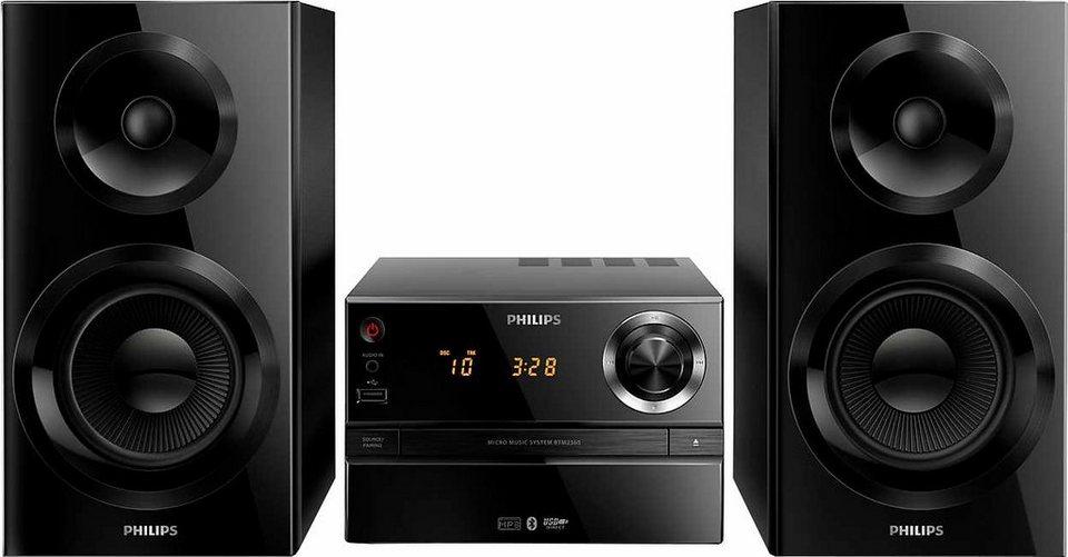 Philips BTM2360 Stereoanlage, Bluetooth, RDS, 1x USB in schwarz