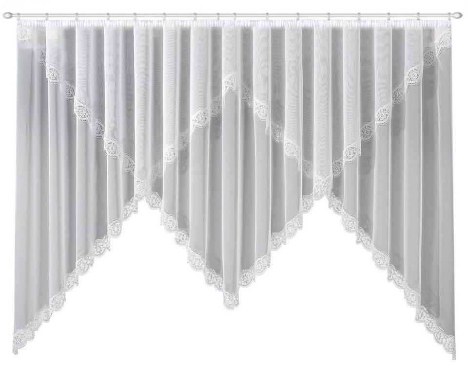 Gardine, »Sahra«, Echte Plauener Spitze (1 Stück) in weiß