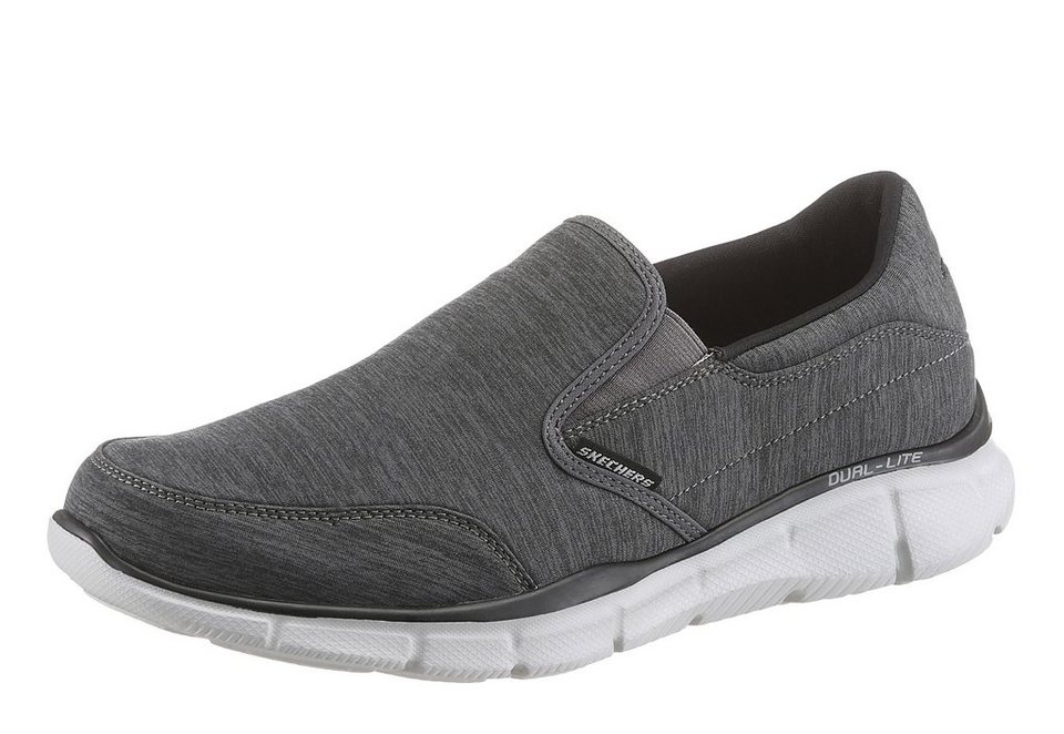 Skechers »Equalizer Forward Thinking« Slipper mit Skechers Memory Foam in dunkelgrau-grau