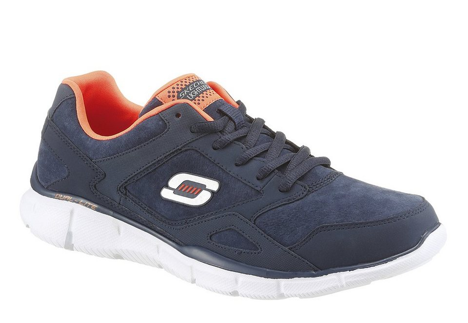 Skechers »Timepiece« Sneaker mit Memory Foam in navy-orange