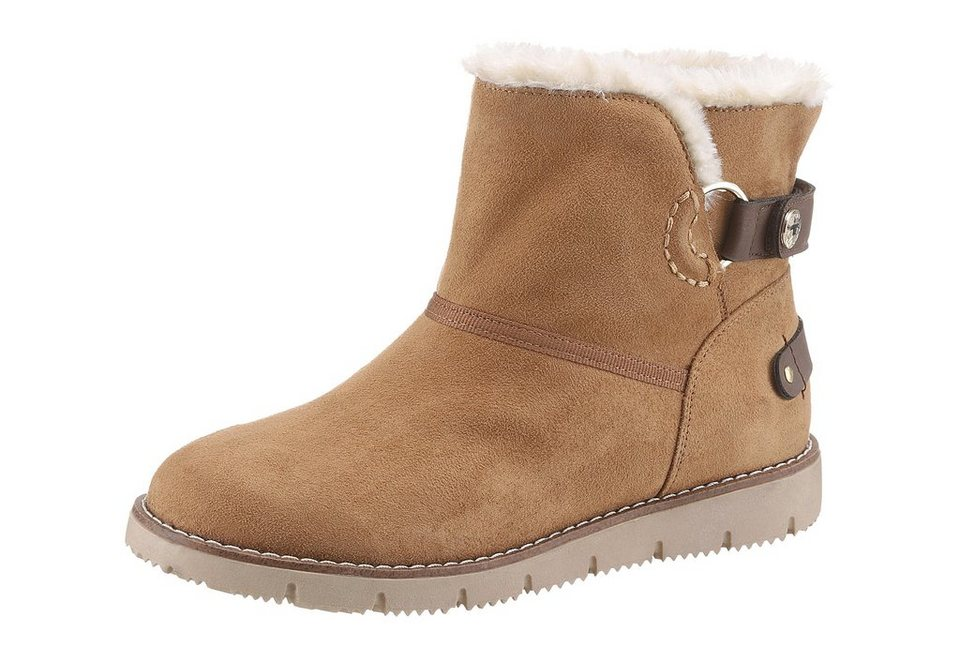 Tom Tailor Winterboots in camelfarben