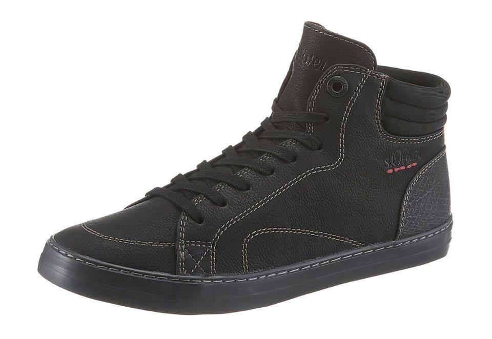 s.Oliver RED LABEL Sneaker in schwarz