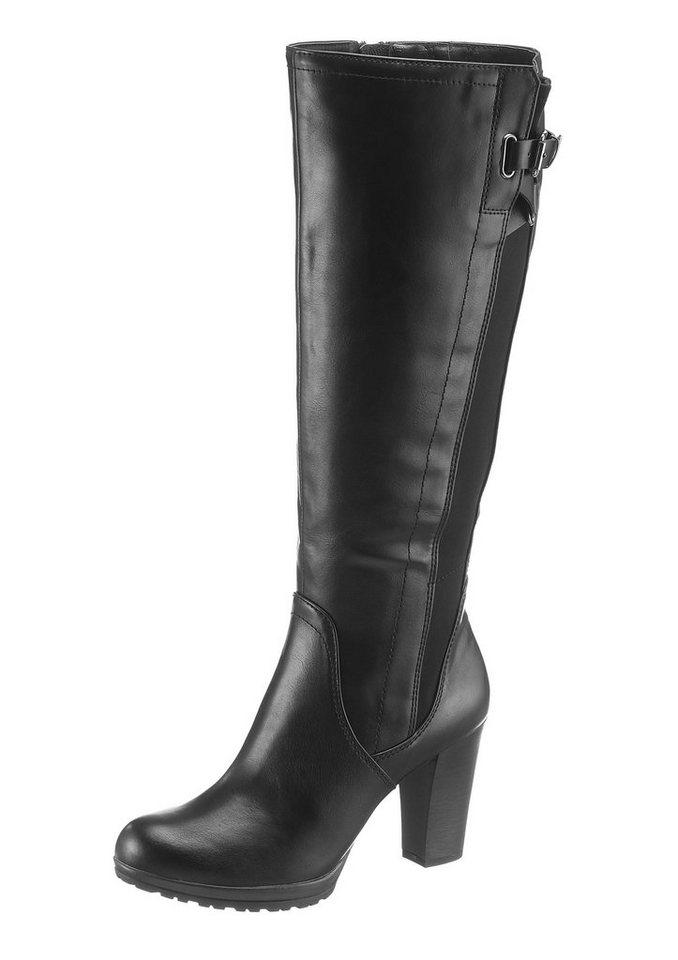 Arizona Stiefel mit variablen XL-Schaft in schwarz