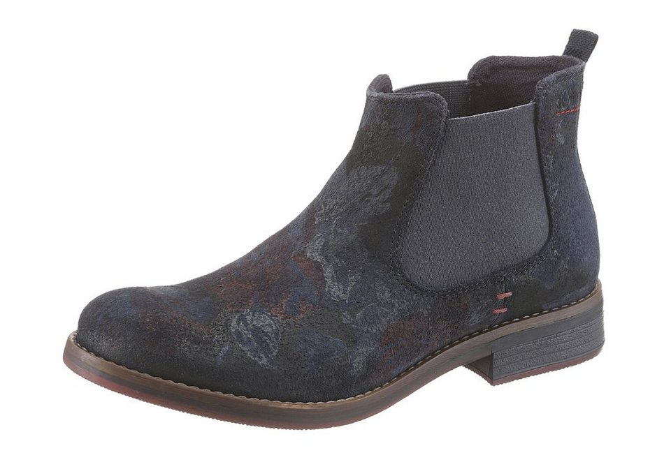 s.Oliver RED LABEL Chelseaboots in navy-multi