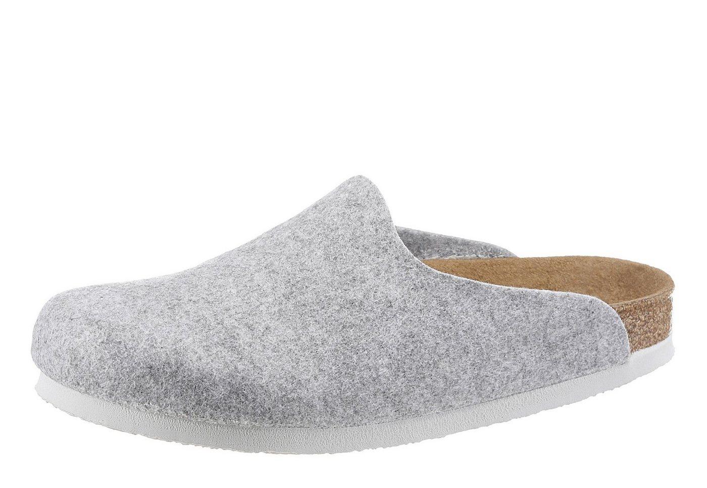 Birkenstock »AMSTERDAM« Pantoffel mit ergonomisch geformten Fußbett | Schuhe > Hausschuhe > Pantoffeln | Grau | Birkenstock