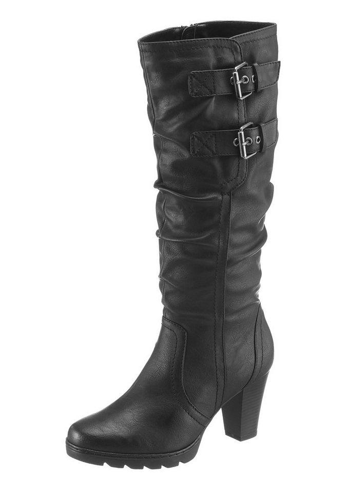 Arizona Stiefel mit variablen Normalschaft in schwarz